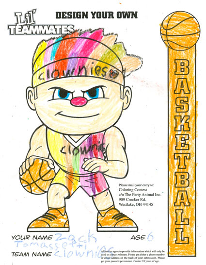 Zack Tomassetti's Coloring Contest Entry